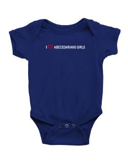 I love Abecedarians Girls  Baby Bodysuit