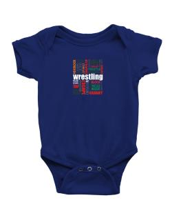 Wrestling Words Baby Bodysuit