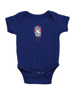 Llama with headphones Baby Bodysuit