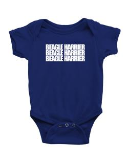 Beagle Harrier three words Baby Bodysuit