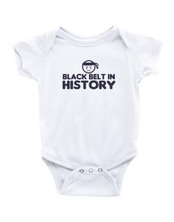 Black Belt In History Baby Bodysuit