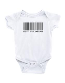 Quebec Sign Language Barcode Baby Bodysuit