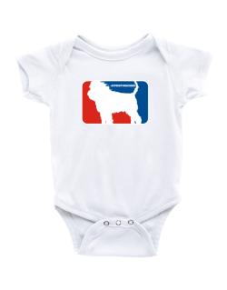 Affenpinscher Sports Logo  Baby Bodysuit