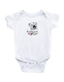 American Bulldog True Love Baby Bodysuit