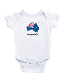 Australia - Country Map Color Baby Bodysuit