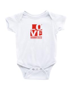 Love Anabaptists Baby Bodysuit