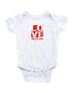 Love Jews For Jesus Baby Bodysuit