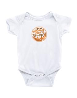 Just another day in paradise pickleball Baby Bodysuit