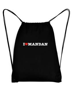 I Love Mandan Sport Bag