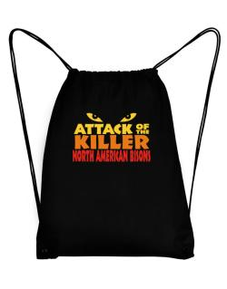 Attack Of The Killer North American Bisons Sport Bag
