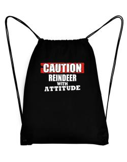 Caution - Reindeer With Attitude Sport Bag