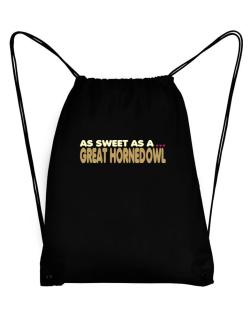 As Sweet As A Great Horned Owl Sport Bag