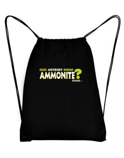 Does Anybody Know Ammonite? Please... Sport Bag