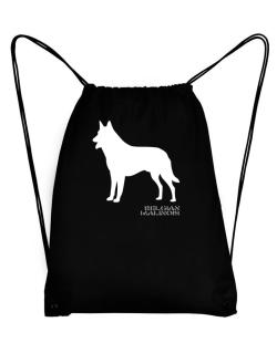 Belgian Malinois Stencil / Chees Sport Bag