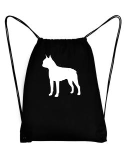 Boston Terrier Silhouette Embroidery Sport Bag