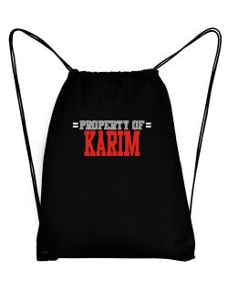 """ Property of Karim "" Sport Bag"