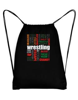Wrestling Words Sport Bag