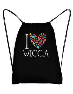 I love Wicca colorful hearts Sport Bag