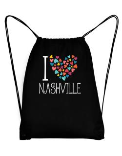 I love Nashville colorful hearts Sport Bag
