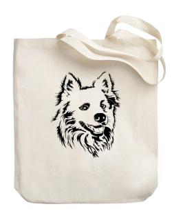 """ Australian Cattle Dog FACE SPECIAL GRAPHIC "" Canvas Tote Bag"