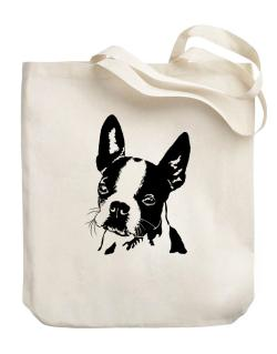 Boston Terrier Face Special Graphic Canvas Tote Bag