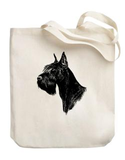 """ Schnauzer FACE SPECIAL GRAPHIC "" Canvas Tote Bag"