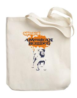 Owned By An American Bulldog Canvas Tote Bag