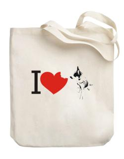 I love Australian Cattle Dogs Canvas Tote Bag