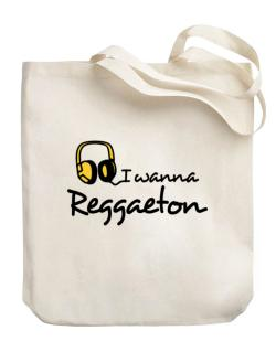 I Wanna Reggaeton - Headphones Canvas Tote Bag