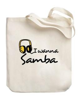 I Wanna Samba - Headphones Canvas Tote Bag