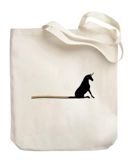 Unicorn Rainbow Poop Canvas Tote Bag