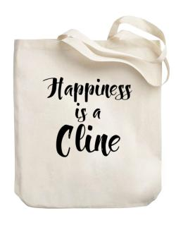 Happiness is a Cline Canvas Tote Bag