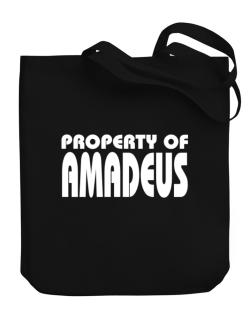 """ Property of Amadeus "" Canvas Tote Bag"