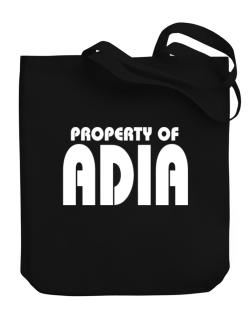 Property Of Adia Canvas Tote Bag