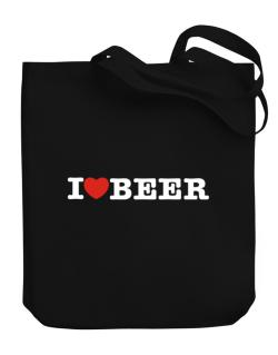 I Love Beer Canvas Tote Bag