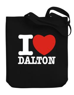 I Love Dalton Canvas Tote Bag