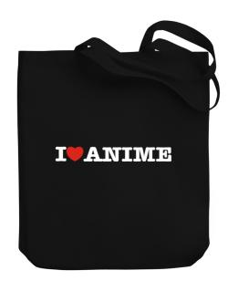 I Love Anime Canvas Tote Bag