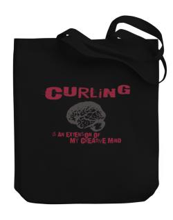 Curling Is An Extension Of My Creative Mind Canvas Tote Bag
