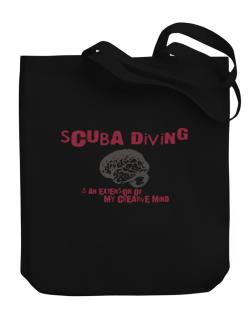 Scuba Diving Is An Extension Of My Creative Mind Canvas Tote Bag