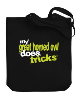 My Great Horned Owl Does Tricks Canvas Tote Bag