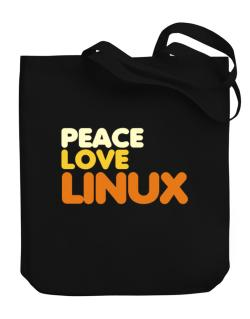 Peace Love Linux Canvas Tote Bag