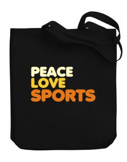 Peace Love Sports Canvas Tote Bag