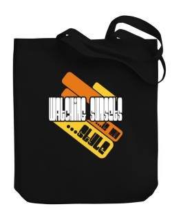 Watching Sunsets Is My Stle Canvas Tote Bag