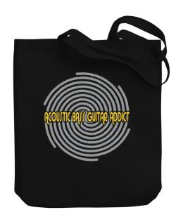 Acoustic Bass Guitar Addict Canvas Tote Bag