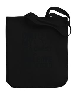 Only My Tea Chest Bass Will Save The World Canvas Tote Bag