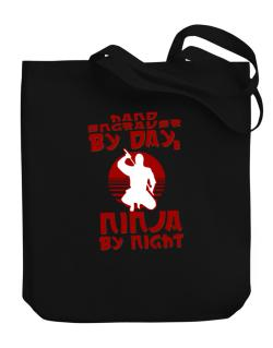Hand Engraver By Day, Ninja By Night Canvas Tote Bag