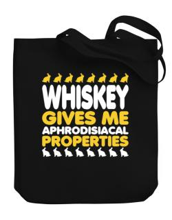 Whiskey Gives Me Aphrodisiacal Properties Canvas Tote Bag