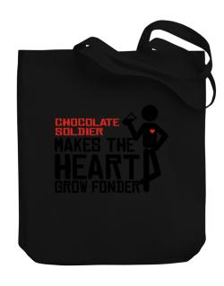 Chocolate Soldier Makes The Heart Grow Fonder Canvas Tote Bag