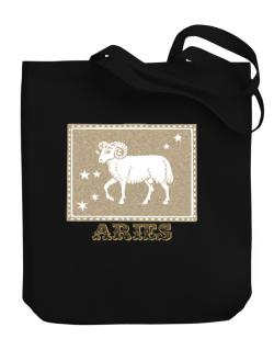 Aries Canvas Tote Bag