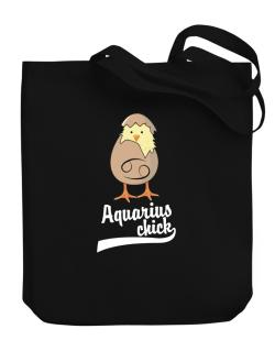 Aquarius Chick Canvas Tote Bag